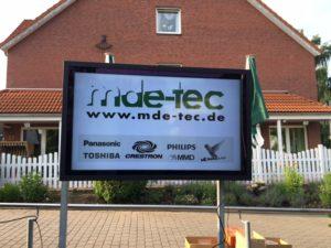 Ein Profi Display im Outdoor Bereich- bereitgestellt von led-tec aus Hannover