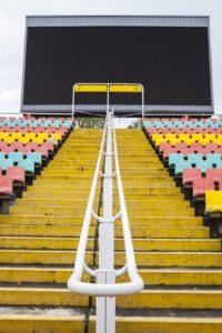 LED Videowand in einem Stadion