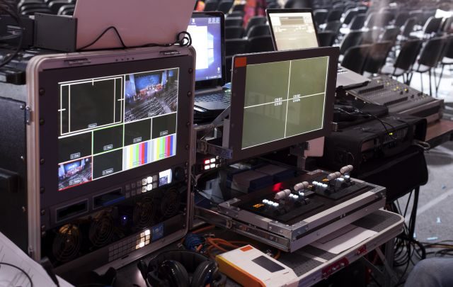 Eventtechnik hinter der Videowall