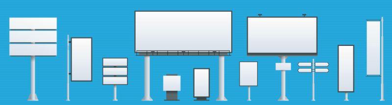 Grafik verschiedener Werbedisplay